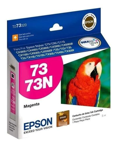 Cartucho De Tinta Epson 73 73n T073320 Magenta Original