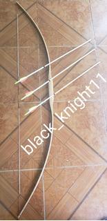 Arco Ingles Medieval Long Bow Large Y 2 Flechas Espada Katan
