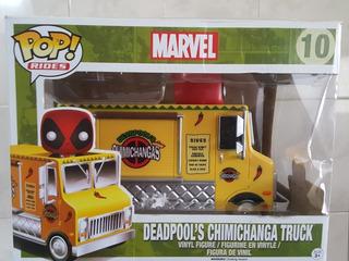 Funko Pop Rides Deadpool Chimichanga Truck Camion Marvel