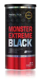 Monster Extreme Black 44 Packs Probiótica Novo Maca Peruana