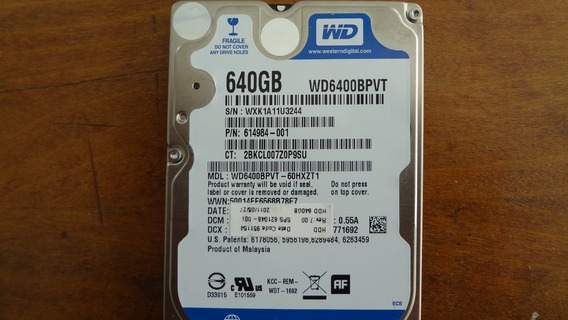 Hd P/notebook 640gb Westerndigital - Aceito Ofertas