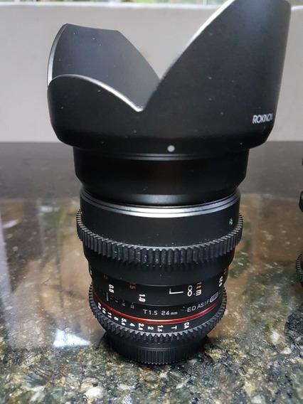 Lente Rokinon Cine 24mm Bocal Canon Ef.Trazida Dos Eua. No