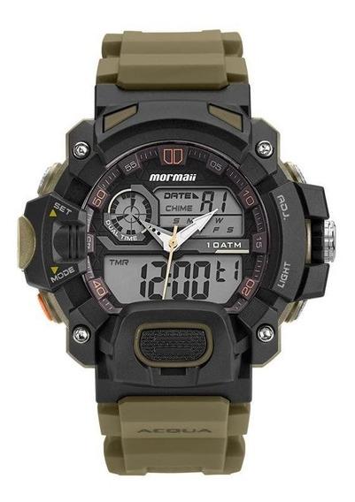 Relógio Mormaii Masculino Ref: Moad1132/8v Acquaforce Verde