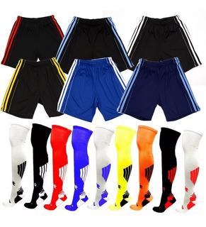 Calção Bermuda Shorts 1pç E 1 Par Meião Kanxa Profissional