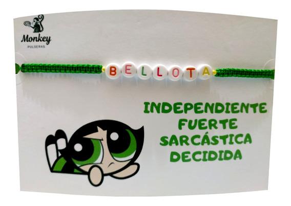 Pulsera Bellota Chicas Superpoderosas Tejida Personalizada