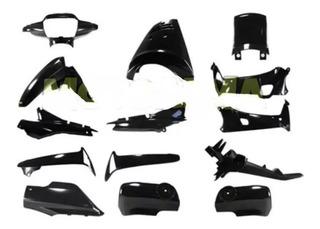 Plasticos Honda Wave 2006/2012 14pzas Negro Brillante Mg