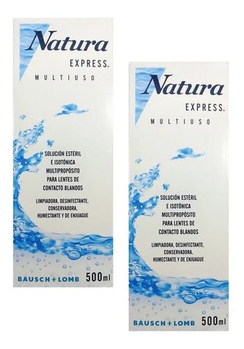 Imagen 1 de 1 de Solución Limpieza Lente De Contacto Natura Express X 500 Ml