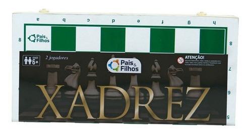 Imagem 1 de 3 de Xadrez Caixa De Madeira 40cm Original S/ Feltro Profissional