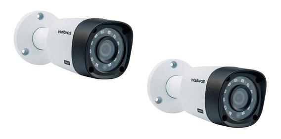 Kit Com 2 Câmeras Intelbras Vhd 3130b G4 Hdcvi Hd 720p Bullet Infra Para 30 Metros