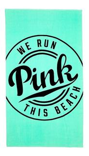 Victorias Secret Toalla Playa Verde Letras Pink Negro Amyglo