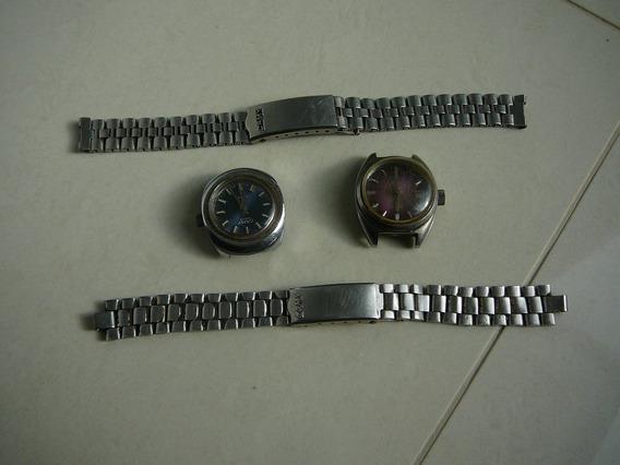 2 Relógio Camy Geneve Automático, Década De 50 Ou 60