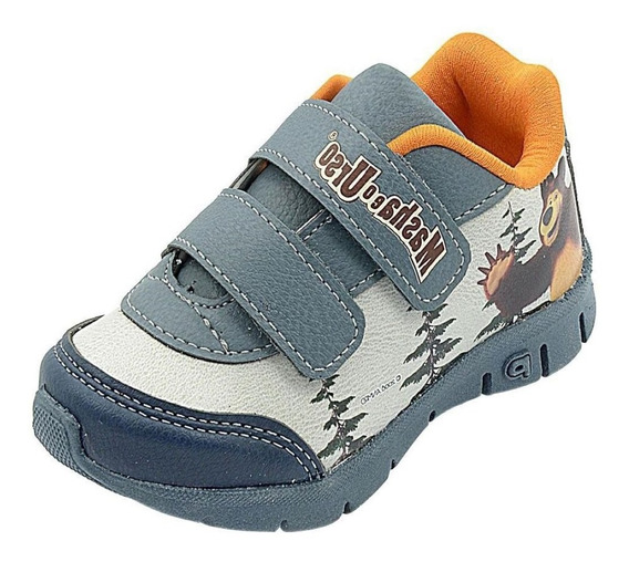 Tênis Infantil Menino Escolar Casual Velcro Conforto 115002