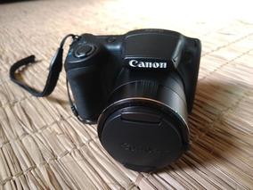 Câmera Canon Powershot Sx410 Com 20mp E Zoom 40x Com Bolsa