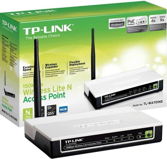 Ponto De Acesso N Wi-fi Tp-link Tl-wa701nd 150mbps Qss Poe