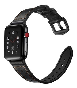 Pulseira Apple Watch Couro Legítimo Iwatch 38 Mm 40 Mm 1 2 3