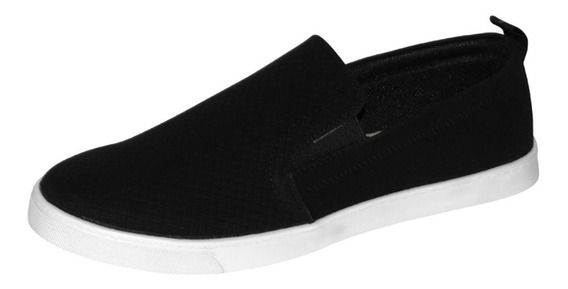 Tênis Slip On Mooncity Casual Preto Com Elástico