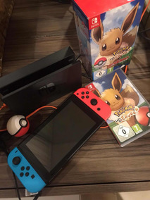 Nitendo Switch + Pokebola + Let S Go Evee