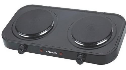 Anafe Winco Electrico Doble 2 Hornallas + 2000w Con Termostato