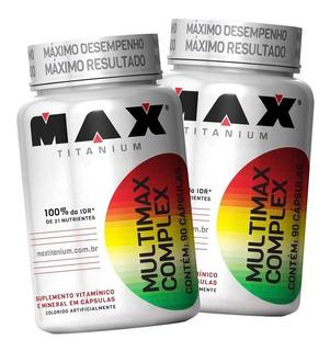 2x Multimax Complex Max Titanium 90 Caps