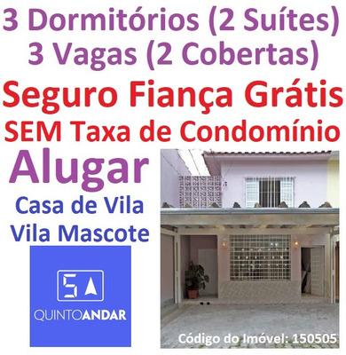 Alugar Casa De Vila Na Vila Mascote 3 Dorms(2 Suítes)3 Vagas
