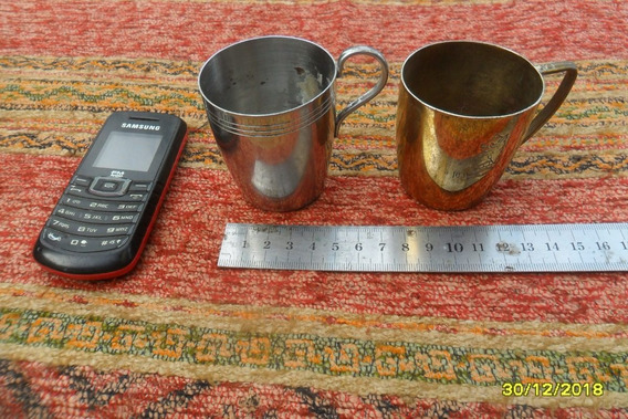 Lote De 2 Antiguas Vasos Medidas Imagen Infantil