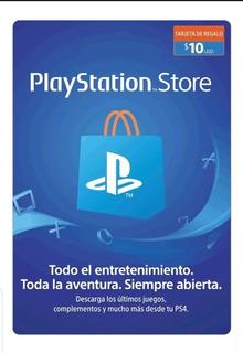 Tarjeta Playstation Network 10 Usd Psn Card Store Para Méxic