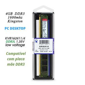 Memoria 4gb Ddr3 1600 Mhz Kingston Desktop Pc P/ Gigabyte