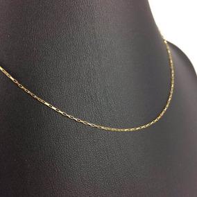 Cordão De Ouro 18k Cartier Corrente 1,0mm X 60cm Masculino
