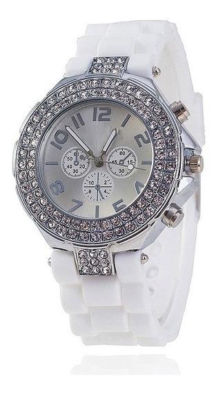 Relógio De Pulso Feminino Elegante Bonito Barato Luxo Branco