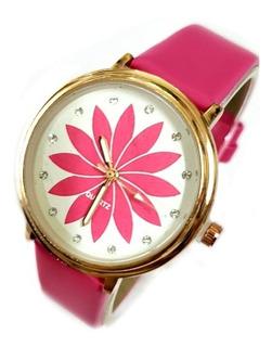 Reloj Pulsera Mujer Malla Eco Cuero Oferta Caja Regalo