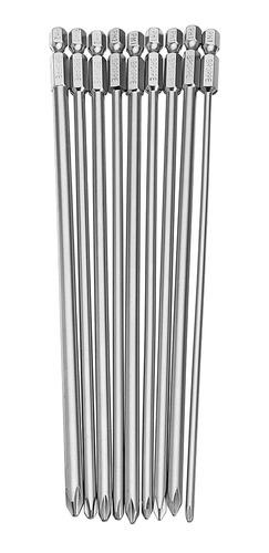 Broppe 9 Pcs 1/4 200mm Ph1 Ph2 Phillips Magnético Longo Hex