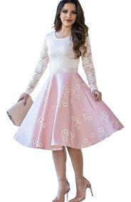 Vestido De Noiva Gode Midi Moda Evangelica Casamento Civil