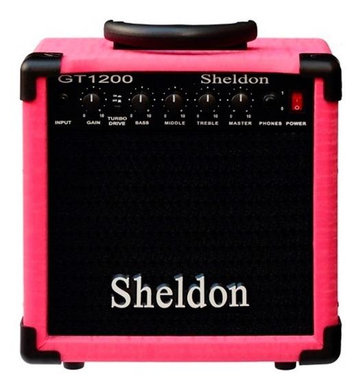 Cubo Amplificador Guitarra C/ Distorção Sheldon Gt1200 15w