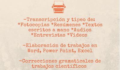 Transcripción, Tipeo Y Elaboración De Documentos Office