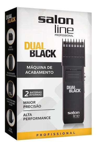 Maquina De Cabelo Barba Profissional Salon Line Dual Black