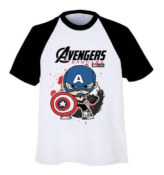 Playera Ranglan Avengers End Game Traje Cuántico Capitan Ame