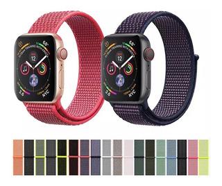 Pulseira Apple Watch Nylon Loop Esportiva 38-40mm 42mm 44mm