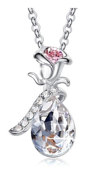 Dije Cristal Swarovski Love Plata Ak Jewelry