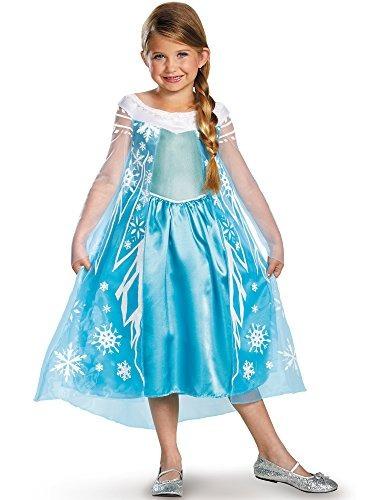 Disfraz De Disney Pixar Frozen Queen Elsa Dress Deluxe (niño