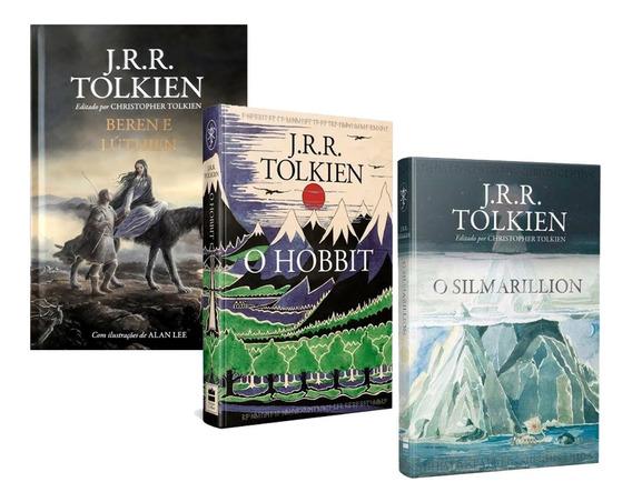 3 Livros O Hobbit+ Beren E Lúthien+ O Silmarillion- Tolkien
