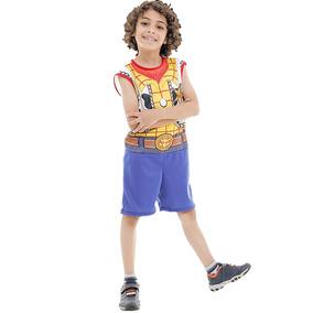 Fantasia Do Toy Story Infantil Xerife Woody Original Curto