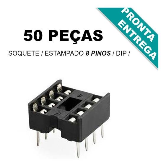 Soquete Estampado 8 Pinos * Dip 8 * Original (50 Unidades)