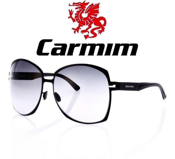 Oculos De Sol Feminino Original Carmim Vintage Retro Preto