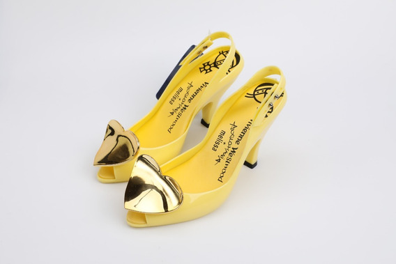 Zapatos Mujer Melissa Vivienne Westwood 22.5/25 Cm Amarillos