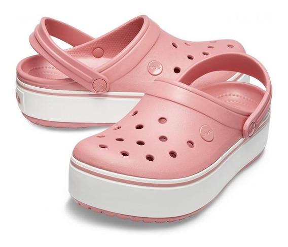 Sandalia Crocs Crocband Platform Mujer Original Rosa