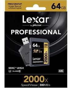 Cartão De Memoria Sdhc 64gb 300mbs 2000x Com Leitor Lexar