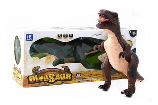 Dinosaurio Grande De Juguete Camina Luces Sonido 38 Cm