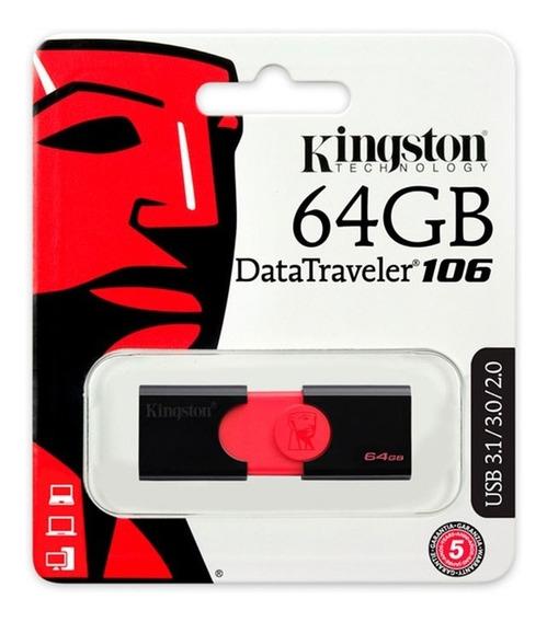 Pendrive Kingston 64gb Dt106 Usb 2.0/3.0/3.1 - Kingston