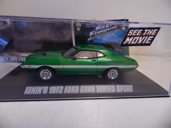 Ford Gran Torino.1/43 Greenligh De Fast&furious.nuevo