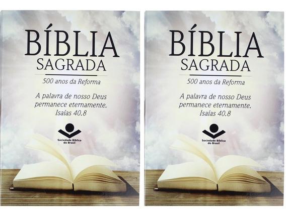 Bíblia Sagrada 500 Anos Reforma 2 Livros Frete Grátis
